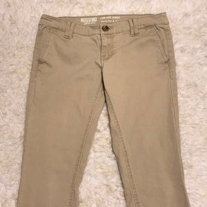 Mossimo Low Rise Skinny Khaki Pants